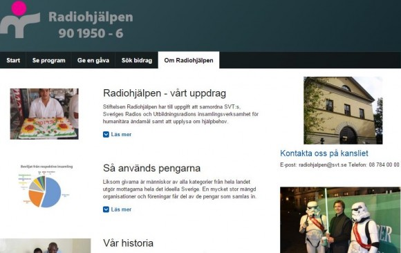 Radiohjälpen, Sweden